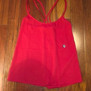 Red Abercrombie double cross tank